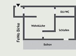 Grundriss - Ferienwohnung Birke